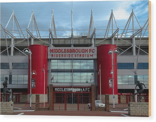 Football Stadium - Middlesbrough Wood Print