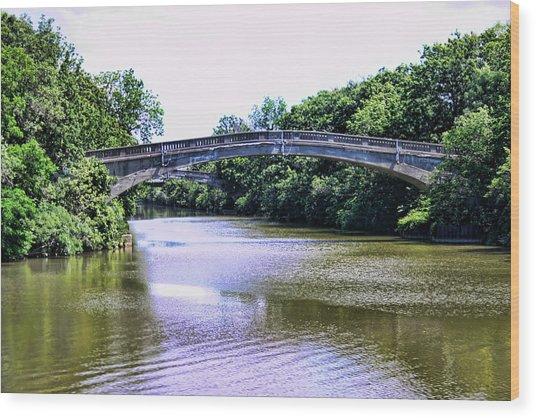 Footbridges On The Genesee Wood Print