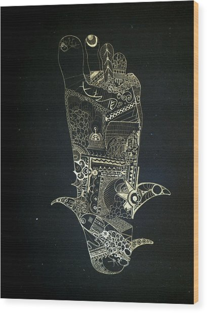 Footprint Wood Print by Guillermo De Llera