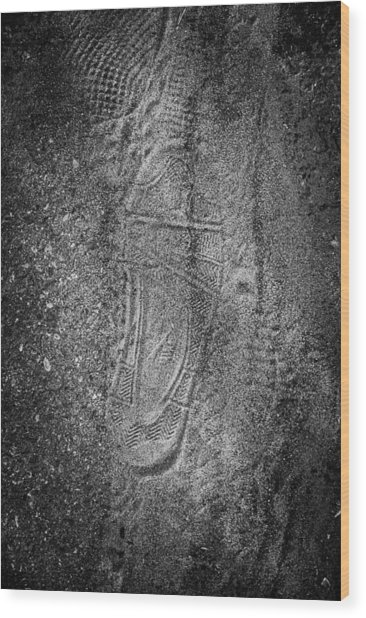 Footprint Of Unknown Person Wood Print