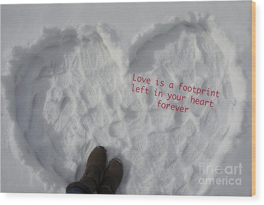 Footprints Wood Print by Nicole Markmann Nelson