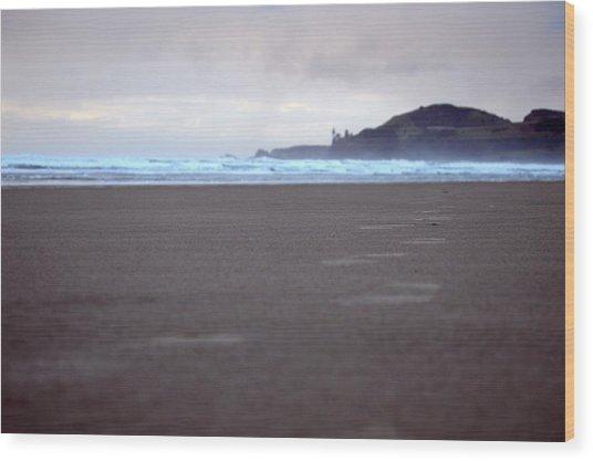 Footprints Wood Print by Sheldon Blackwell