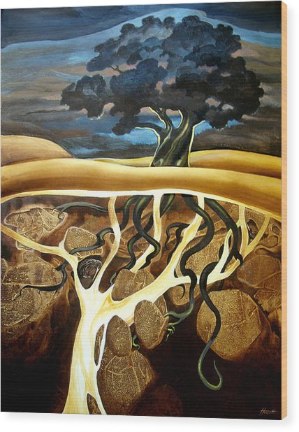 For Now She Sleeps Wood Print by Patricia Howitt