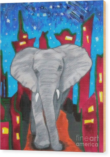 For The Love Of Elephants Wood Print