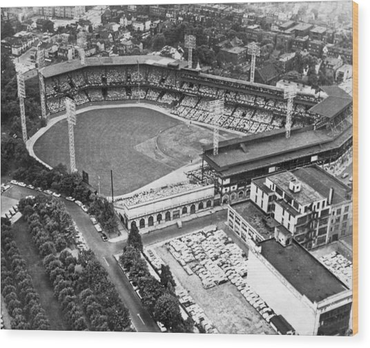 Forbes Field In Pittsburgh Wood Print