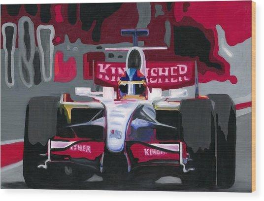 Force India Rising In F1 Monaco Grand Prix 2008 Wood Print