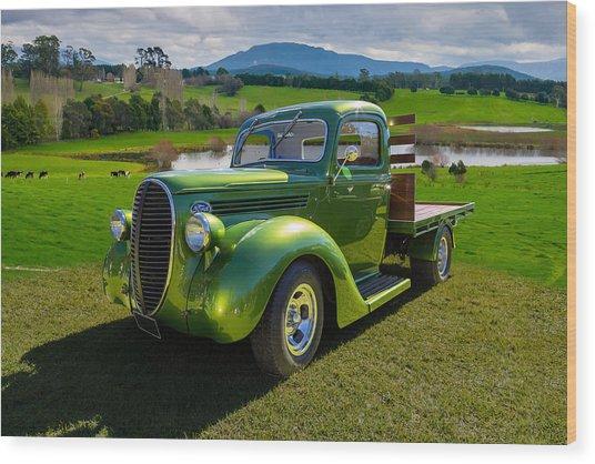 Ford Barrel Nose Pickup Wood Print