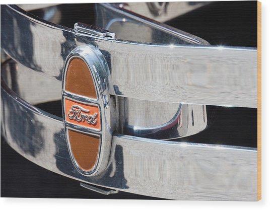 Ford Bumper  Wood Print by Cyrel Moore
