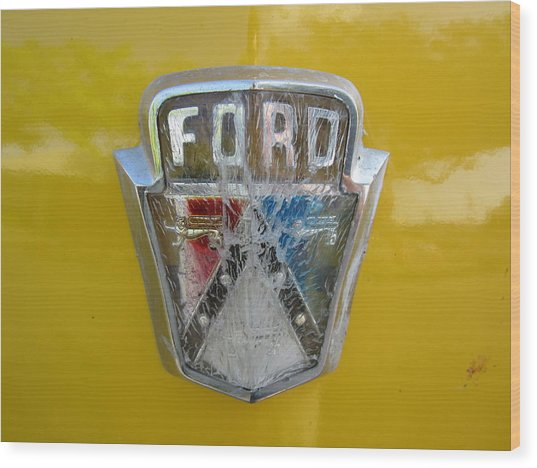 Ford Wood Print by Denver Lukas