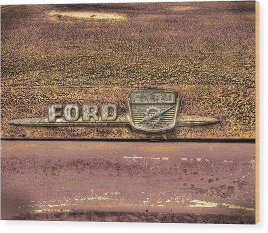 Ford F-100 Wood Print