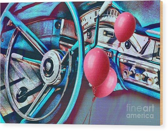 Ford Fairlane 500 Dashboard- Warhol-esque Wood Print
