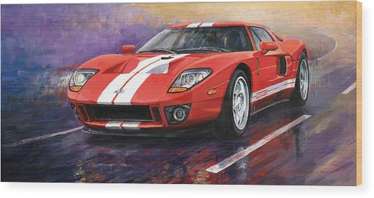 Ford Gt 2005 Wood Print