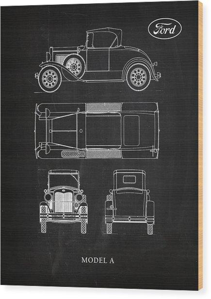 Ford Model A Wood Print