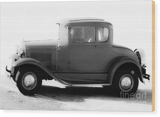 Ford Model A Side View Wood Print