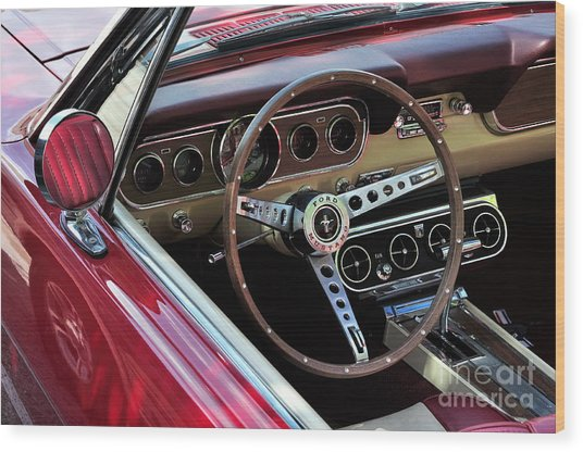 Ford Mustang Wood Print by Andres LaBrada