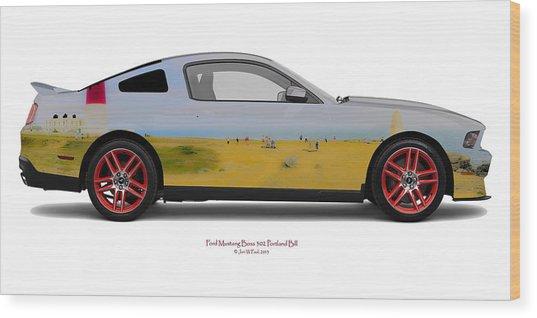 Ford Mustang Boss Portland Bill Wood Print by Jan W Faul
