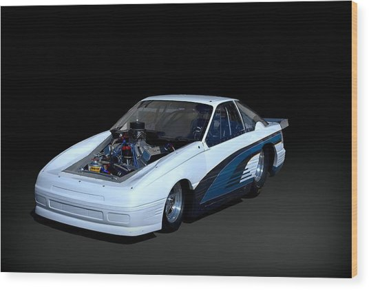Ford Mustang Funny Car Dragster Wood Print by Tim McCullough