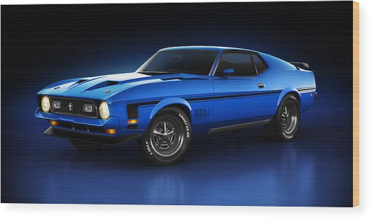 Ford Mustang Mach 1 - Slipstream Wood Print