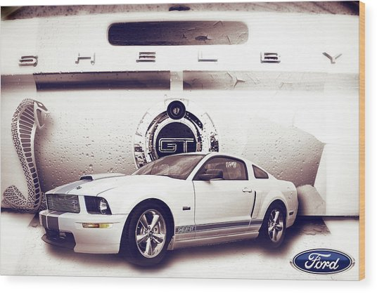Ford Mustang Shelby Gt  Wood Print