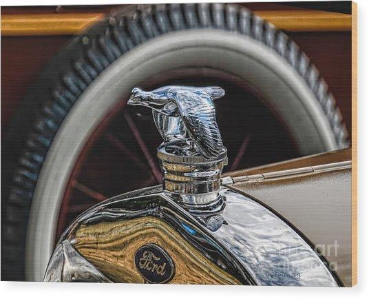 Ford Quail Radiator Cap Wood Print