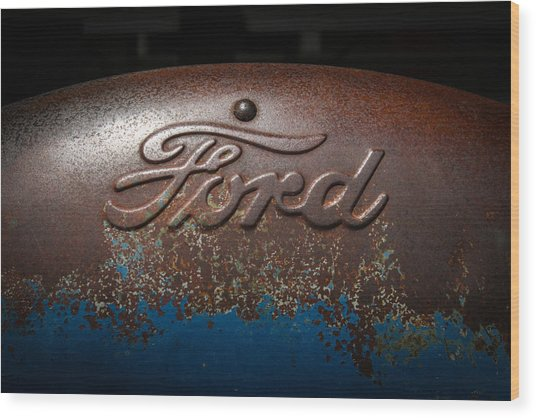 Ford Tractor Logo Wood Print