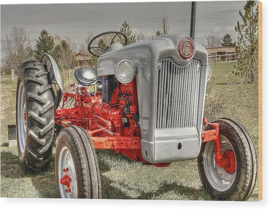 Ford Tractor Wood Print by Peter SPAGNUOLO