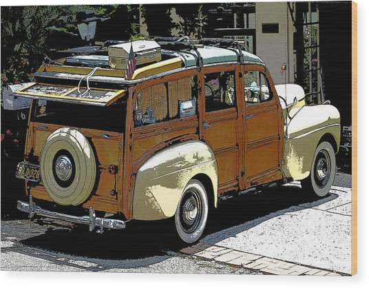 Ford Woodie Wood Print