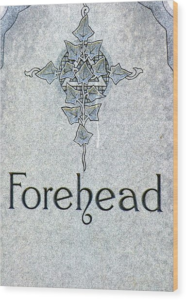 Wood Print featuring the photograph Forehead Headstone by Jeff Lowe
