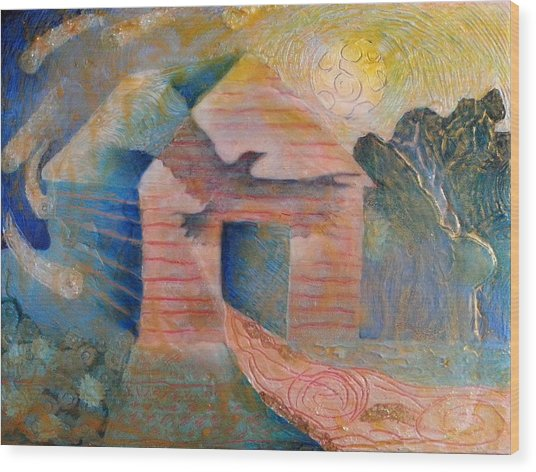 Foreshadowing Of A Twister Storm On The Wish-farm Wood Print