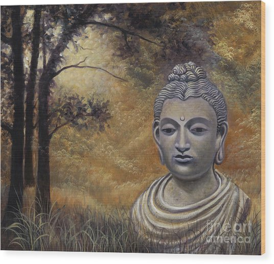 Forest Buddha Wood Print