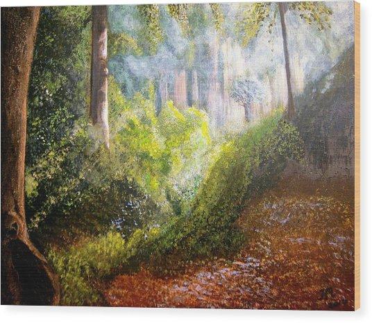 Forest Glade Wood Print by Heather Matthews