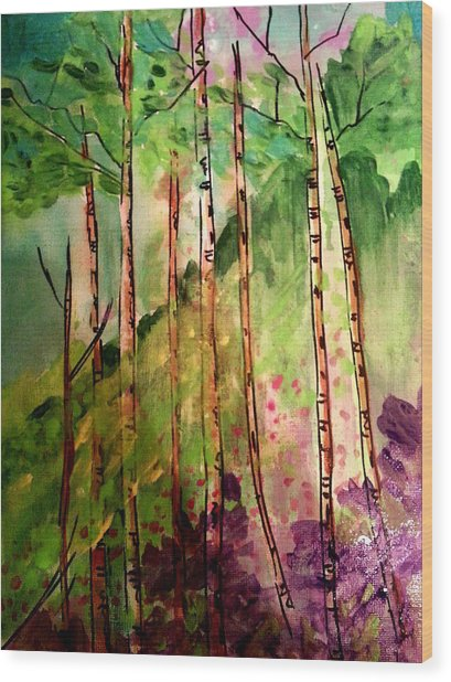 Forest  Wood Print