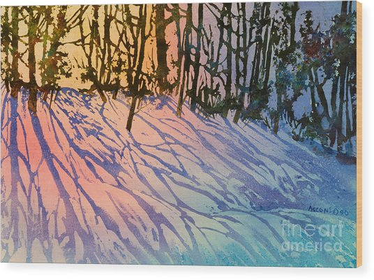 Forest Silhouettes Wood Print