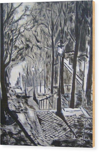 Forget Paris Wood Print