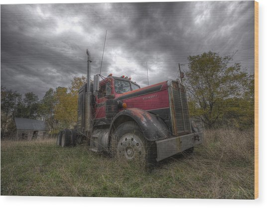 Forgotten Big Rig 2014 V2 Wood Print