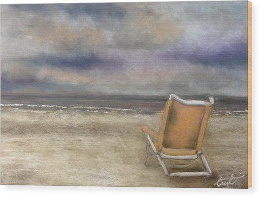 Forgotten Chair Wood Print
