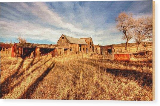 Forgotten Farm Wood Print