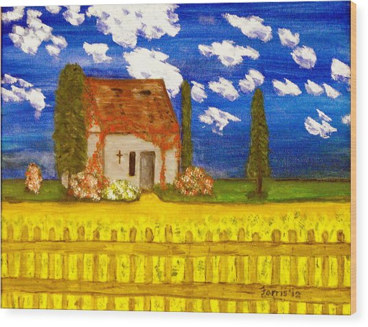 Forgotten In Provence Wood Print
