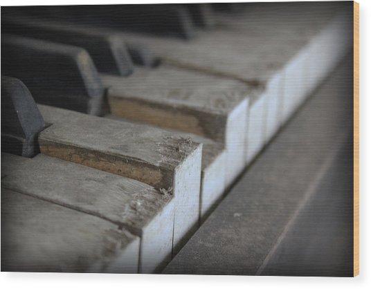 Forgotten Keys Wood Print