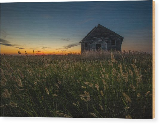 Forgotten On The Prairie Wood Print
