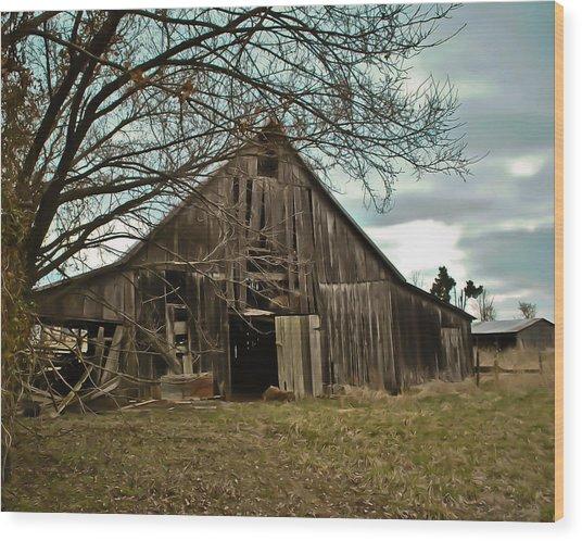 Forlorn Barn Wood Print