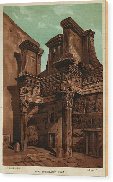 Foro Transitorum     Date 1891 Wood Print by Mary Evans Picture Library