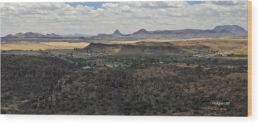 Fort Davis From Davis Mountains State Park Wood Print