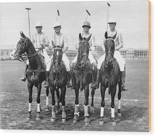 Fort Hamilton Polo Team Wood Print