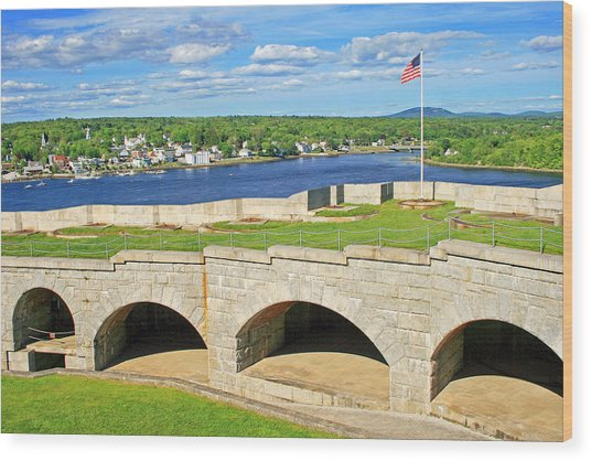 Fort Knox In Maine Wood Print