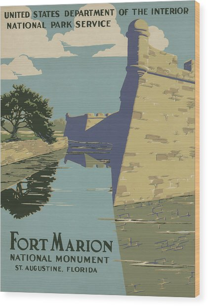 Fort Marion Wood Print