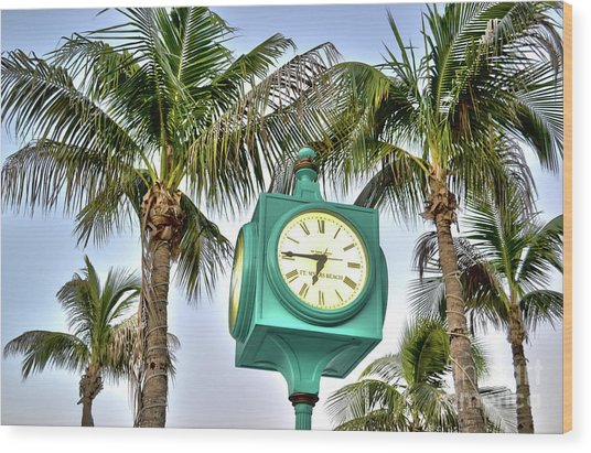 Fort Myers Beach Florida Times Square 3 Wood Print