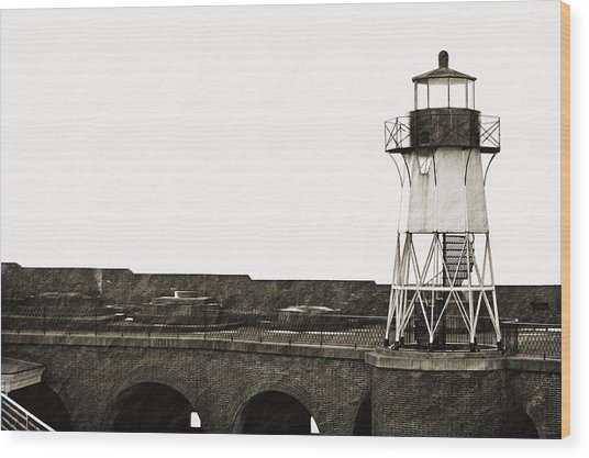 Fort Point Lighthouse Wood Print