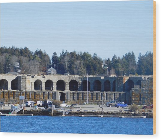 Fort Popham In Maine Wood Print