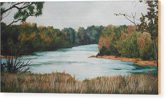 Fort Toulouse Coosa Tallapoosa River Wood Print by Beth Parrish